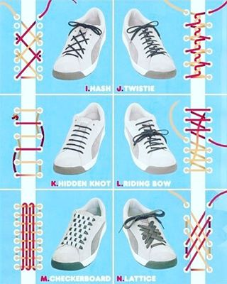 調べたら靴紐の結び方のアレンジってたくさんあるみたいですね! 皆さんも色々試して遊んでみてくださいね!